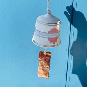 Vintage Aztec southwestern hanging bell wind chime